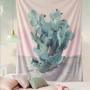 Prickly pear cactus tapestry